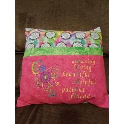Mother Pillow Pink & Green