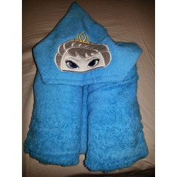 Ice Queen Blue Towel